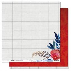 Carta Les Ateliers de Karine - Blue Batik - Rouge Passion