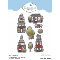 Bundle Fustelle e Timbri coordinati Elizabeth Craft Designs - Row Houses