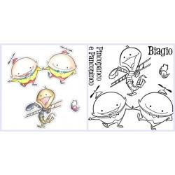 Bundle Fustelle e Timbri coordinati Impronte d'Autore - Pincopanco