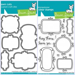 Bundle Fustelle e Timbri coordinati Lawn Fawn -  Flirty Frames