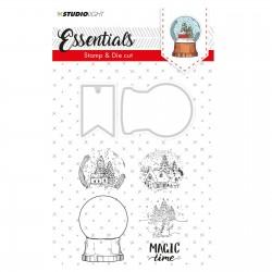 Fustella con Timbri coordinati Studio Light - SNOWGLOBE