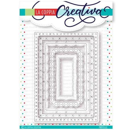 Fustella La Coppia Creativa - Rettangoli Decorati