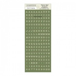 "Stickers ""Petite Type"" - Authentique- Green"