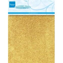 Cartoncino glitterato - 5 fogli formato A5 - ORO