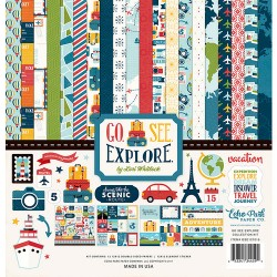 Kit carte Echo Park 12 x 12 Collection Kit - Go See Explore Collection