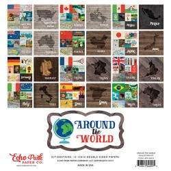 Kit carte Echo Park 12 x 12 Collection Kit - Around The World Collection