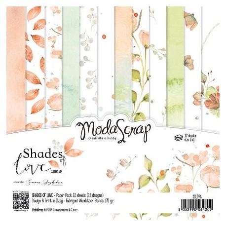 "Pad Carte 6"" x 6""  ModaScrap - SHADES OF LOVE"