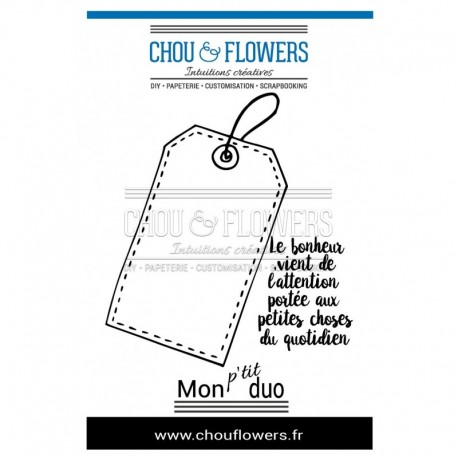 """Timbro Cling - Chou & Flowers - """" TAG"""""""