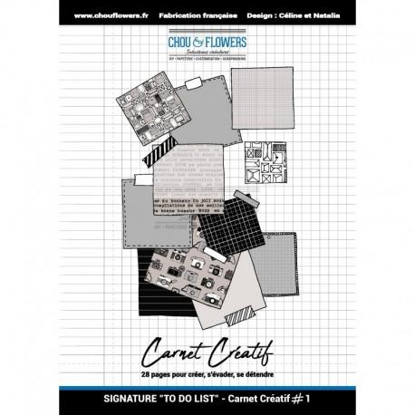 Blocco Carte A5 - Chou & Flowers - Carnet Creatif 1