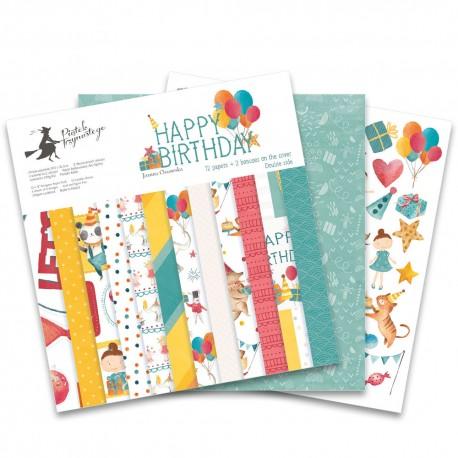 "PIATEK13 - Happy Birthday  - PAPER SET 12x12"""