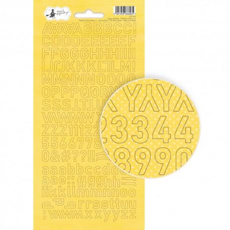 PIATEK13 - Happy Birthday - Alphabet sticker sheet 02