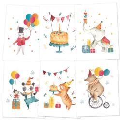 PIATEK13 - Happy Birthday  - Set of  mini poster 15 x 20cm