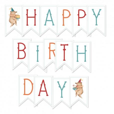 PIATEK13 - Happy Birthday - Paper die cut garland