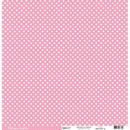 Cartoncino petits pois - Rose