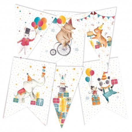 PIATEK13 - Happy Birthday - Paper die cut garland 6 pezzi