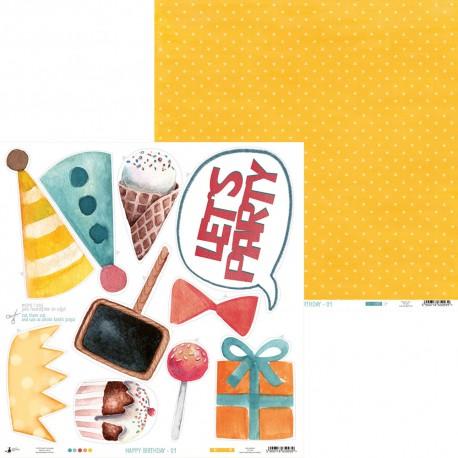 """PIATEK13 - Happy Birthday 01 - 12""""x 12"""""""