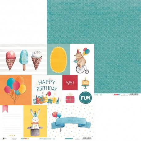 """PIATEK13 - Happy Birthday 06 - 12""""x 12"""""""