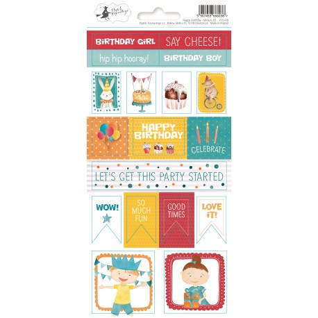 PIATEK13 - Happy Birthday - Stickers 02
