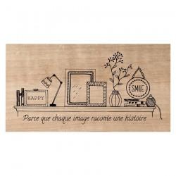 Timbro legno Chou & Flowers - PARCE QUE CHAQUE IMAGE