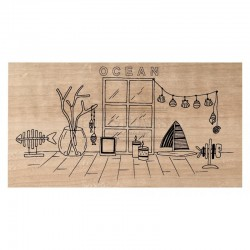 Timbro legno Chou & Flowers - OCÉAN