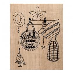Timbro legno Chou & Flowers - SAC DE PLAGE
