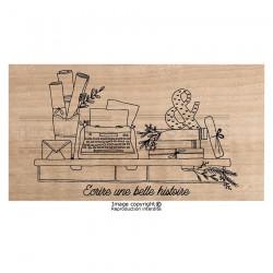 Timbro legno Chou & Flowers - ÉCRIRE UNE BELLE HISTOIRE