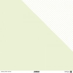 """Carta ModaScrap - 12""""x 12"""" PASTEL GREEN - DOUBLE FACE"""