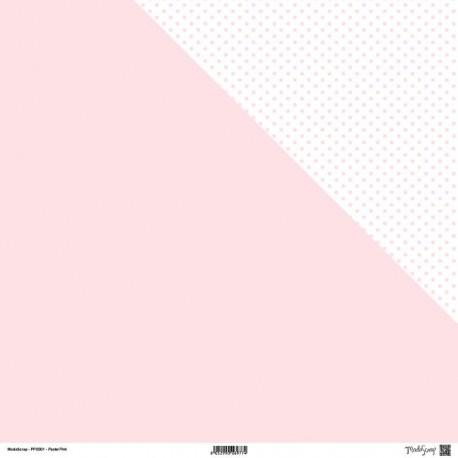 "Carta ModaScrap - 12""x 12"" PASTEL PINK - DOUBLE FACE"