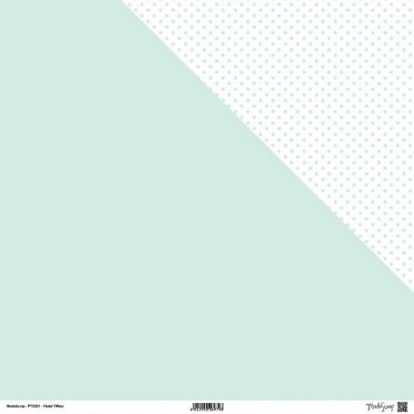 "Carta ModaScrap - 12""x 12"" PASTEL TIFFANY - DOUBLE FACE"
