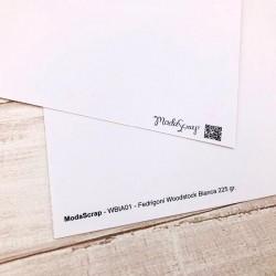 "Carta ModaScrap - 12""x 12"" CARTONCINO WOODSTOCK BIANCA"