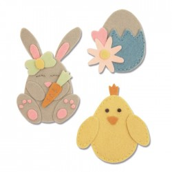 Fustella Sizzix Bigz L - Bunny, Chick and Egg