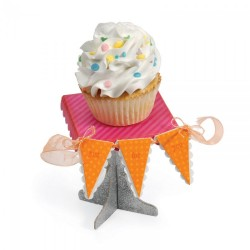 Fustella Sizzix Bigz XL - Cupcake Stand & Pennant