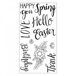 Timbro Clear Sizzix - Spring Phrases