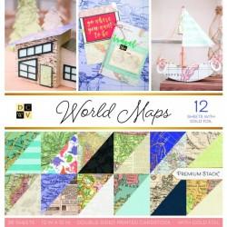 DCWV 12x12 pad - World Maps