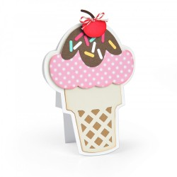 Fustella Sizzix Framelits - Ice Cream Fold-its