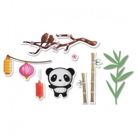 Fustella e Timbro Sizzix - Oriental Elements