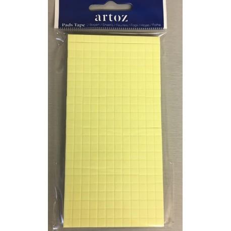 Craft foam pads 5x5x3 mm - Artoz