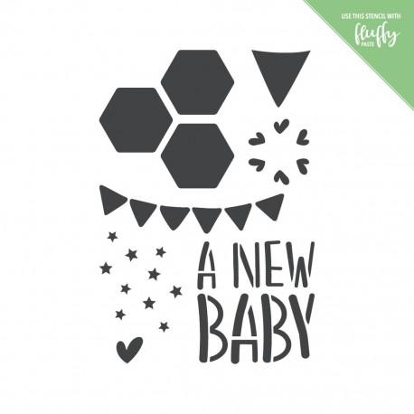 MODASCRAP STENCIL - NEW BABY