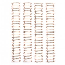 We R Memory keepers - 4 Spirali metalliche oro rosa 1 inch