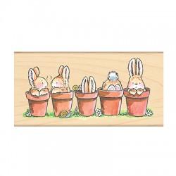 Timbro in legno Penny Black - Bunny Friends