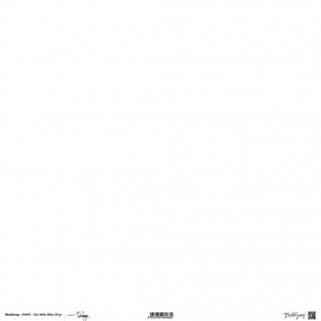 "Carta ModaScrap - 12""x 12"" CARTONCINO SIRIO WHITE WHITE TOMMY"