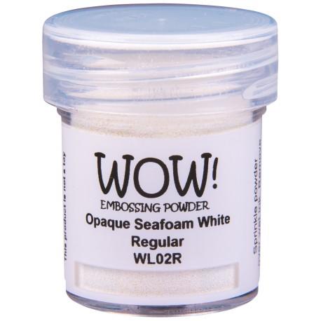 Wow! - Opache seafoam white regular