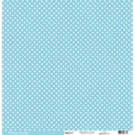 Cartoncino petits pois - Bleu