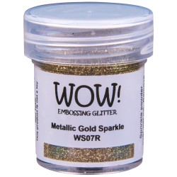Wow! - Glitter Metallic Gold Sparkle