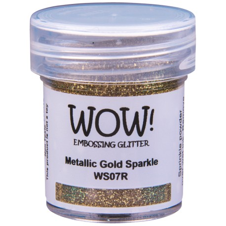 Wow! - Glitter Metallic Gold Sparkle