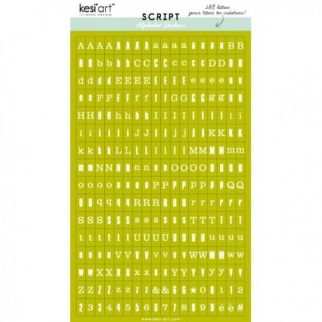 Alfabeto sticker kesi'art - Nero