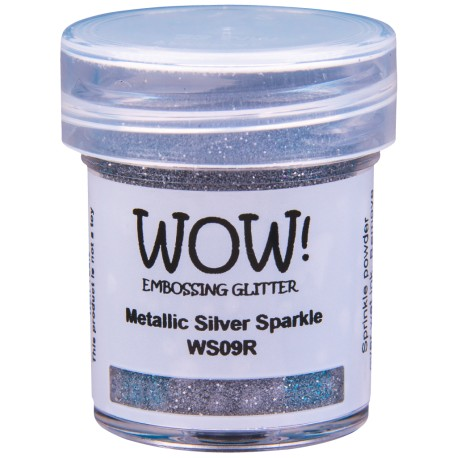 Wow! - Glitter Metallic Silver Sparkle