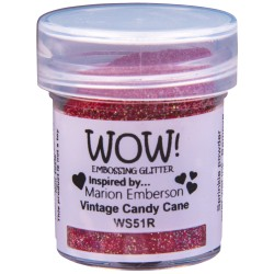 Wow! - Glitter Vintage Candy Cane