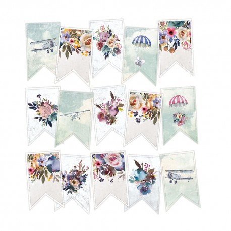 PIATEK13 - When we first met - Paper die cut garland