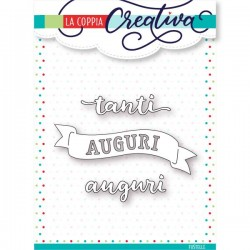 Fustella La Coppia Creativa - Tanti Auguri Banner